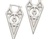 Sterling Chevron Earrings