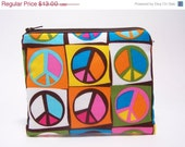 50% Off Discontinued Peace Sign Coin Purse and Pocket Mirror