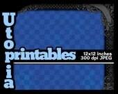 Blue Checkerboard Scrapbook Paper