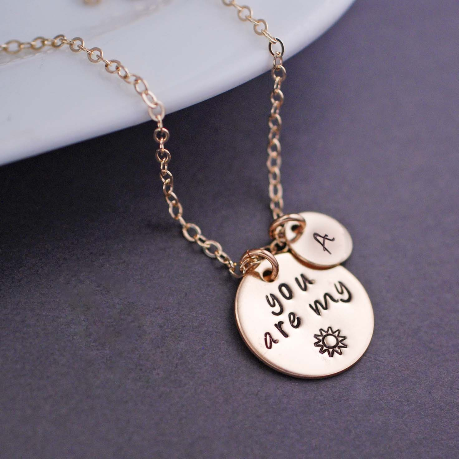 You are my Sunshine Necklace Personalized Gold by ...