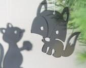3 Cute Critters - in grey transparent plexiglas