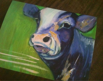 fine art cow painting print