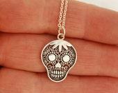 Filigree Day of Dead Skull Necklace