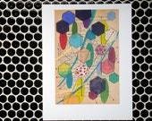 Colored Hexagons - Fine Art Giclee Print