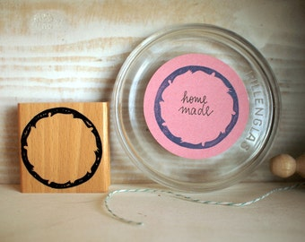 Rubberstamp - Nostalgic Circle Label/Frame - 55x55mm