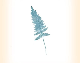 Fern Leaf Print -Botanical Art -Woodland Giclee- Fern Art
