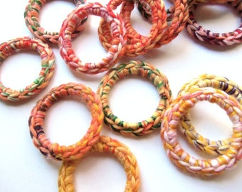 Cat and Ferret Toys, Recycled Rings Toy Wool Yarn, Multicolor, Gift for Cats and Ferrets