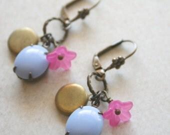 Reflection - Vintage Brass Locket Earrings