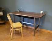 Early Century Desk of Walnut and Steel