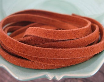 Camel Suede Lace, 5mm -4 foot cutting -Order more than 1