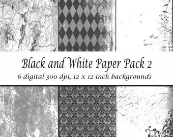 Black and White Paper Pack 2