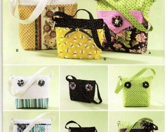 Uncut Simplicity 2277 BAG PURSE PATTERN 3 Sizes Detachable Cover Sewing Fabric Purses