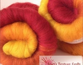 SPICE TRAIL Stripe 100g (3.53oz) Hand Carded Batts for Felting, Dreads, Spinning