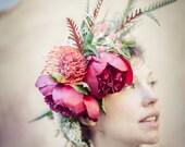 Custom Floral Crown - Flower Crown - Custom Bridal Crown - Custom Wedding Accessory - Flower Crown - Weddings -