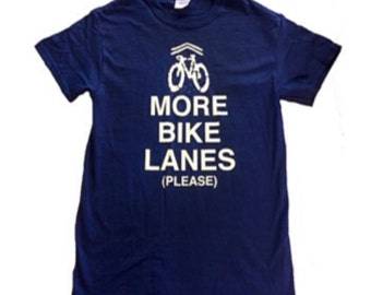"projectchane screenprinted tshirt ""More Bike Lanes (Please)"""