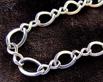 Vintage 12K Yellow Gold Filled Link Charm Bracelet