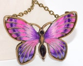 FOR Catherine -  Butterfly Necklace Art Jewelry