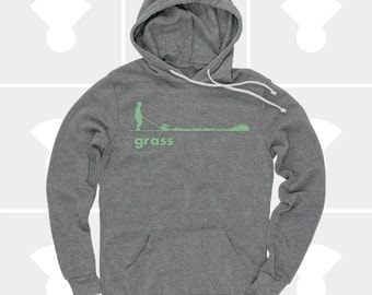 Grass Men's Hoodie, Sweatshirt, Grass, Spring, Summer, Outdoors, Garden, Green, Funny, Grey Sweatshirt (3 Colors) Pullover Hoodie for Men