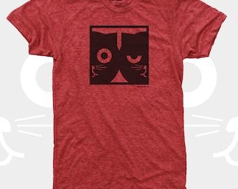 Cat TShirt Men, Cat Shirt, Dueling Watson the Cat, Men's Clothes, Funny TShirt, Men Graphic Tee, Crazy Cat Man, Mens Cat Shirt