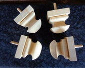 "Set of 4 New 3"" Unfinished Wood Square Furniture Sofa Chair Feet or Finials"