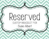 Custom Order for Susie Albert  - FAB, Funky Art Bracelet