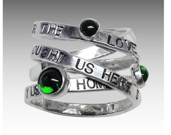 Sterling Wrap Around Ring with Gemstones