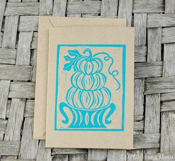 Autumn Pumpkin Greeting Cards