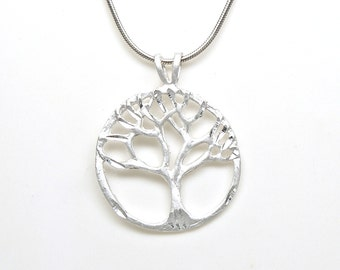Sterling Silver Tree of Life Family Tree Charm Pendant Customize no. 2034