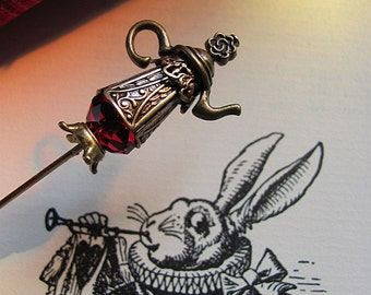 Tea For the Trumpeter Victorian Wonderland Teapot Hat Pin