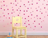 Polka Dot Wall Decals - Dot Decals - Geometric Wall Mural Decal - Kid Shape Decal - Statement Decal - WD1052