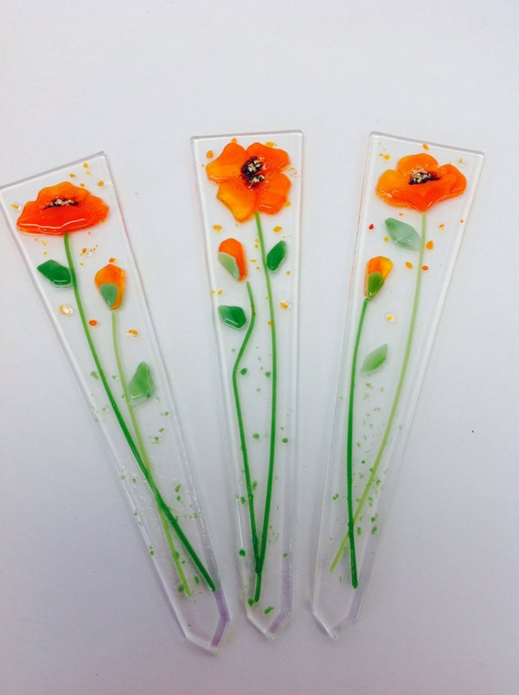 Etsy Plant Stake Glass Fused