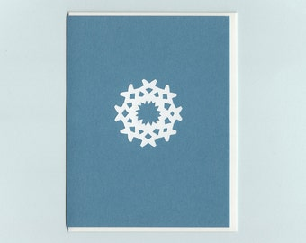 Special Snowflake #2 - papercut collage card