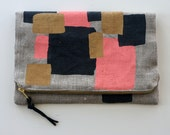 SALE - Bunch of Squares Foldover Clutch