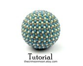 Beaded Bead Tutorial TITANIC 29mm Pattern Instructions Peyote Beadweave To Cover 25mm Beads