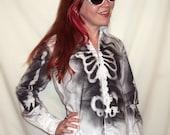 Skeleton Rib Cage X-ray Button up dress shirt