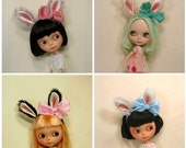 Animal Headband for Blythe dolls,  made to order, bunny ears headband, rabbit ears