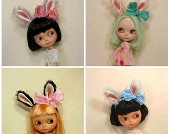Animal Headband for Blythe dolls,  made to order, bunny ears headband, rabbit ears