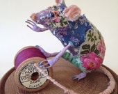 Pippin the mouse - a textile sculpture