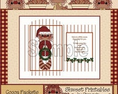 Wreath Cocoa Packet Printable