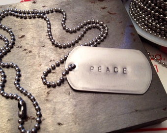 Hanging hashtag PEACE ready to ship