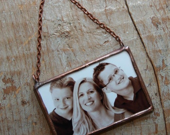 Holiday Photo Ornament-Custom Picture Ornament-My First Christmas Ornament-Wedding Gift