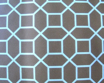 Brown & White Geometric Tile Pattern Contact Paper-Remnant Pieces