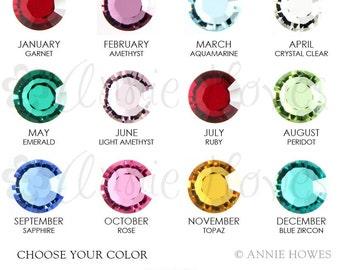 Swarovski Crystal Birthstone   6mm. Choose your color. Single  1128 SS29.