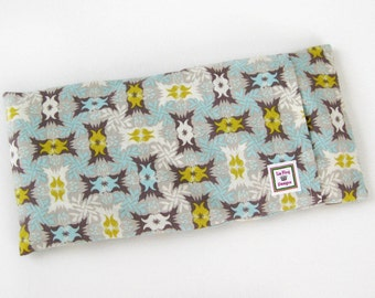 Heating Pad (Microwavable)- Blue Garden  // Buckwheat and Rice Heating Pad // Cold Pack // Removable Cover