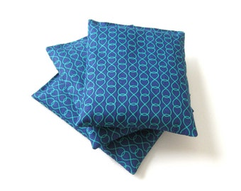 Lavender sachets, Blue with green swirls, Lavender Bags, Drawer sachets, Lavender Scent, Bridesmaids gift, Housewarming gift