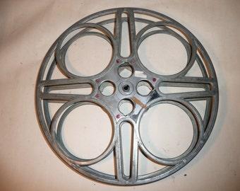 1940's  vintage reel goldberg bros denver co 35 mm  movie reel hollywood
