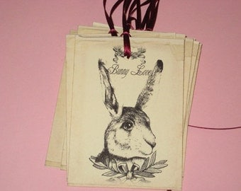 Set of 8 Bunny Love Easter Gift Tags