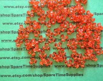 Darice - 06102-1-T36 Tri Beads - transparent tangerine - 11mm - 220 pcs