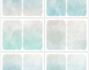 Distressed Blues Printable Digital Art Journal Papers Instant Download Set of 6 - 11 x 8.5 inch JPEG & PDF Commercial Use 1876