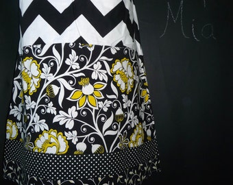 Ready to MAIL -  Aline Patchwork Skirt - Will fit Size S up to M - by Boutique Mia